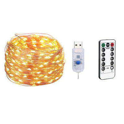 (20M 200 LEDs, A) - TAOtTAO Outdoor 10M 100 LEDs Waterproof USB Charging Home