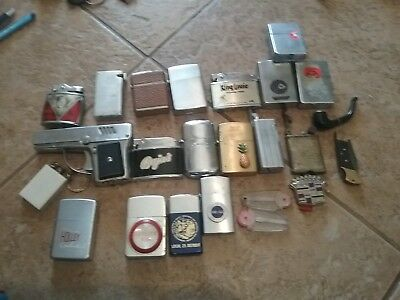 MIXED LOT OF VINTAGE LIGHTERS ZIPPO RONSON JAPAN champ trench
