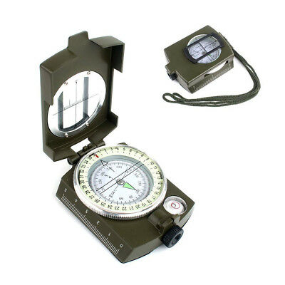 Folconauto Military Lensatic Sighting Compass with Pouch Waterproof Compass