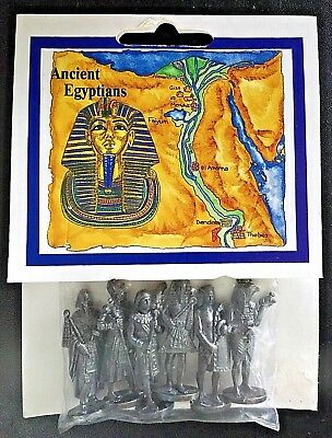 """Six 1½"""" Pewter Ancient Egyptions by Westair Made in England NIP FREE SHIPPING!"""