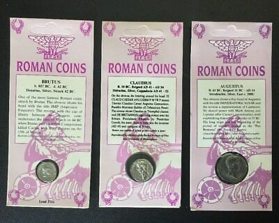 Set of 3 Two-Sided Ancient Roman Coin Replicas •Educational Resource• FREE SHIP!