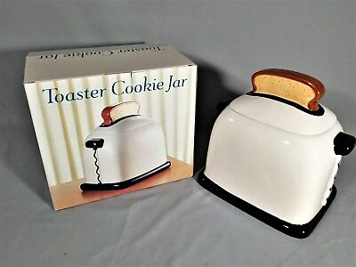 """New Toaster Cookie Jar Asia Master Group with Box 9 1/2"""" Tall."""