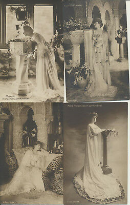 4 ROMANIA Royalty RPPC Marie Maria Gimm LOT 17