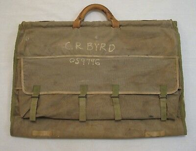 WW2 WWII USMC Officer's Garment Clothing Bag Original 1944 Excellent Condition