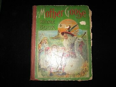 Antique Mother Goose Nursery Rhymes - 1800's Copyright Very Rare!!! Collectable!