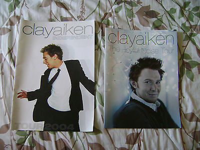 Clay Aiken Tour Books Lot (2 Books)