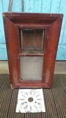 Jerome & Co. 30 Hour wall Clock Case For Parts Or Restoration
