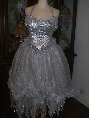 Ladies Pantomime Fairy God Mother Costume Theatre Stage Show Dress Panto