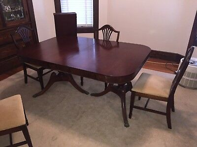 Duncan Phyfe Claw Foot Dining Set with Statesville & Ross Chairs