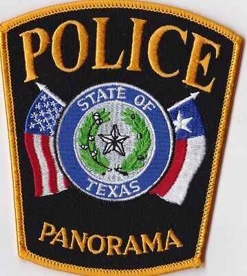 Panorama  Police Patch Texas TX