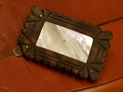 Victorian Memorial Plaque With Mother Of Pearl