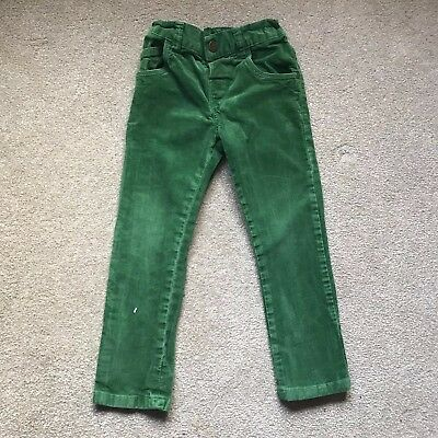 Boys Next Green Cord Trousers - Size 3-4