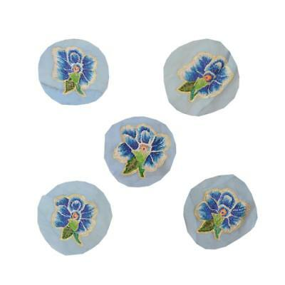 """Tcw Vintage 5 Applique Georgette Embroidered Home Decor Craft 2.5""""X2.5"""""""