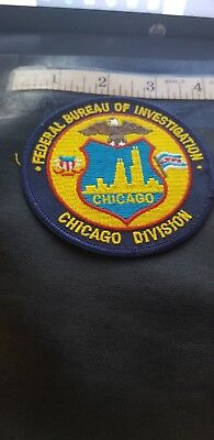 Fbi Chicago Division  Patch  $4.99 See Our E Bay Store Sale Now Going On !!!!!!