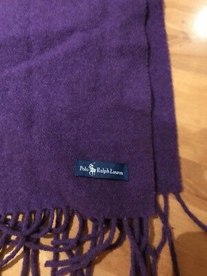Polo Ralph Lauren men's purple fringed scarf brand-new without tags