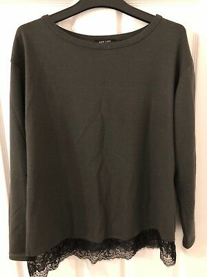 Womens New Look Maternity Jumper Size 10 Charcoal