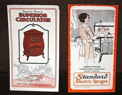Bridge-Beach and Standard Stove brochures pamphlets 1920s original advertising