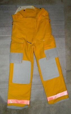 Globe Firefighter Bunker TurnOut Pants 34x34 Vintage 1991 NWOT Fire Yellow Nomex