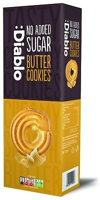 Diablo No Sugar Added Butter Cookies 135 g, Low Carb