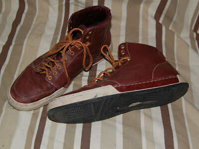 "NIKE ""Air Royal Mid"" Quickstrike Mens Wine Leather High Top Sneakers UK 9 EU 44"