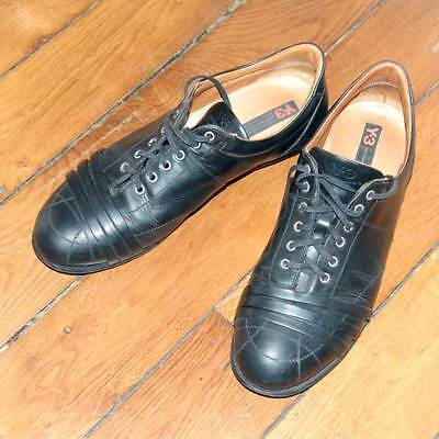 £310 YOHJI YAMAMOTO Y-3 Mens Black Leather Dress Lace Shoes UK 9.5 EU 43.5 Italy