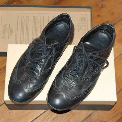 £289 NEIL BARRETT Men's Black Leather Brogues Sneakers UK 9.5 EU 44 Italy