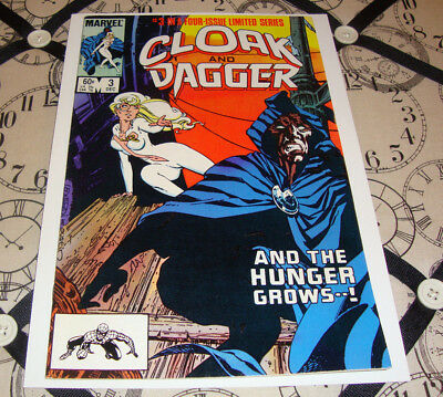 Cloak and Dagger #3 (Dec 1983) Bronze Age Marvel Comic Limited Series VF