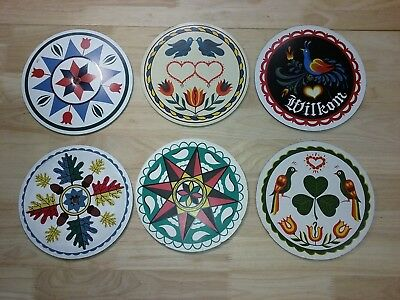 """HEX SIGNS by PA DUTCH Zook 8"""" Lot of 6"""