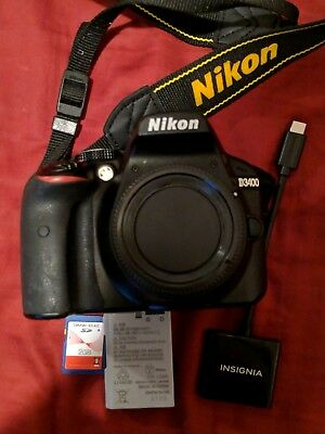 Nikon D3400 DSLR Camera Body Only (black) - Excellent!