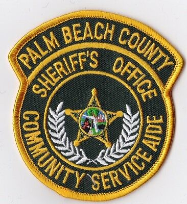 Palm Beach County Sheriff's Office Community Service Aid Police patch Florida FL
