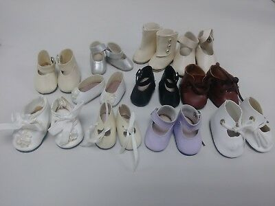 Lot Of 11 Pairs Of Vintage Doll Shoes Boots And Slippers