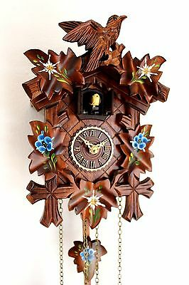 cuckoo clock black forest quarz germany quartz new battery operated wood painted