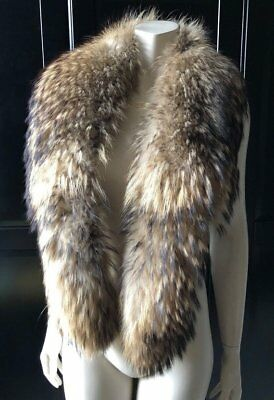 Vintage LONG Fur Stole Scarf Shawl Collar