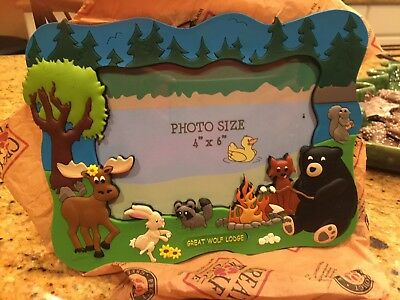 Great Wolf Lodge picture photo frame souvenir NEW!  Never Used!
