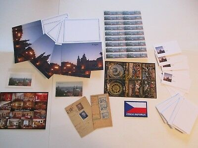 Prague Czech Republic 53 Items Magnet Patch Stamps Stickers Stationery Card #2