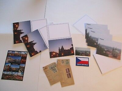 Prague Czech Republic 27 Items Magnet Patch Stamps Stationery Card #6