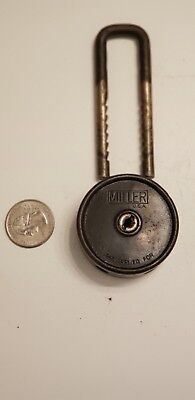 Antique Miller padlock no key