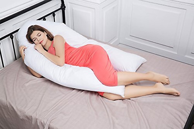 Extra Fill Comfort U shape Pillow Body Back Support Nursing Maternity Pregnancy