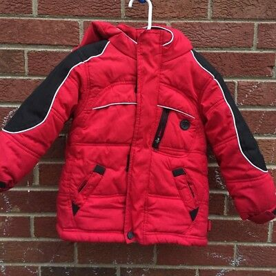 0687185f9 TODDLER BOYS WINTER Jacket Protection System size 3T Red Hooded ...