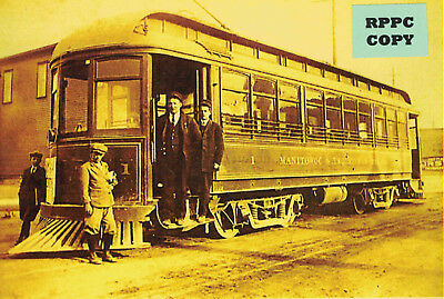 Manitowoc & Two Rivers Railway Co. Trolley Car #1, WI Wisconsin Traction Line