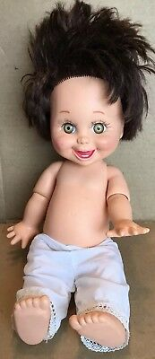 Galoob Baby Face Doll So Happy Heidi Brunette 1990