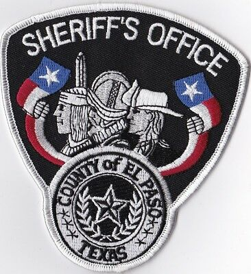 County of El Paso Sheriff's Office  Police Patch Texas TX
