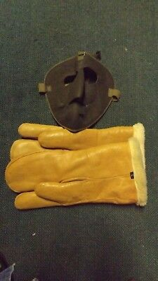 Ww2 Us Army Air Corps / Force High Altitude Mittens And Mask