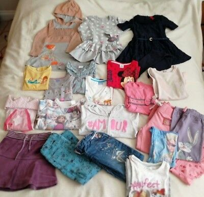 Girls Cloths Bundle Age 4-5 NEXT ZARA DISNEY ect.