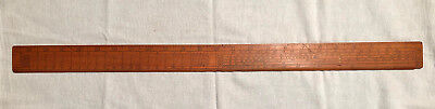 Antique 2 Sided Boxwood Gunter Scale Rule with Brass Pins LEA RUM CHO SIN TAN