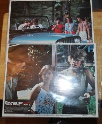 FRIDAY THE 13th Part 1 & 2 Complete Lobby Card Sets Great Condition 16 Total
