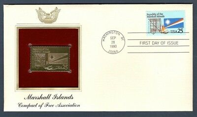 2507 FDC Marshall Islands 22kt FDC Gold Replica