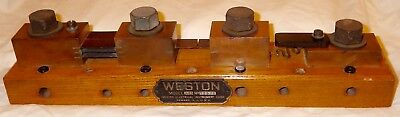 Early Weston Electrical Instrument Model J25 Current Shunt May 16,1893-4 Display