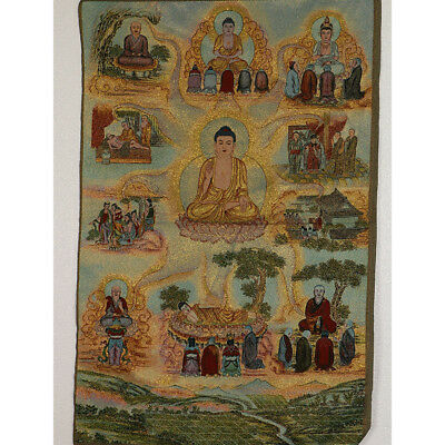 Tibet Collectable Silk Hand Painted Buddhism Portrait   Thangka RK043.b