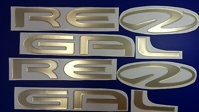 """Regal Boats Emblem 47"""" gold + FREE FAST delivery DHL express- stickers"""